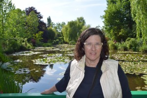 Jet-lagged Maggie at Giverny