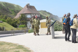 D-Day re-enactors - note the clerical collar on one - they disappeared before I could chat with the