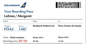 Iceland Air boarding pass Maggie2