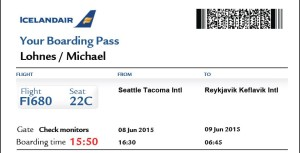 Iceland Air boarding pass Mike